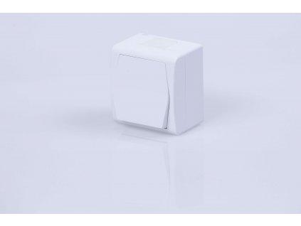Vypínač na povrch č.1,6 biely IP44 1001-00 HERMES
