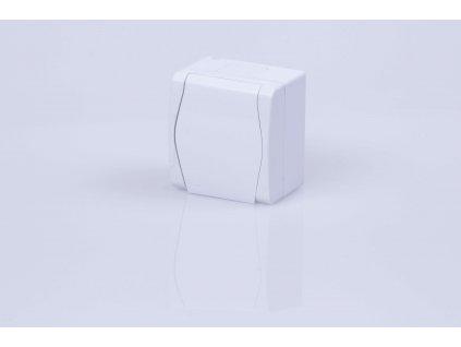 1-zásuvka na povrch biela IP44 1021-00 HERMES