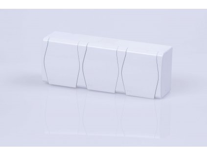 3-zásuvka na povrch biela IP44 1023-00 HERMES