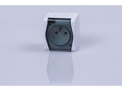 1-zásuvka na povrch dymová IP44 1021-01 HERMES