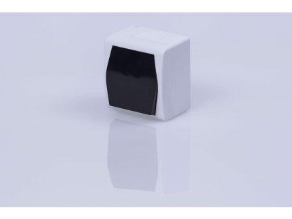 Vypínač na povrch č.1,6 biely dymový IP44 1001-01 HERMES