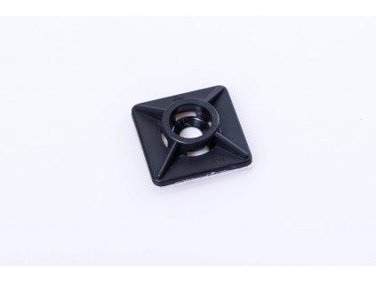 Samolepiaca 2-pätka 19x19mm ku sťahovacím pásikom čierna TALP191-2