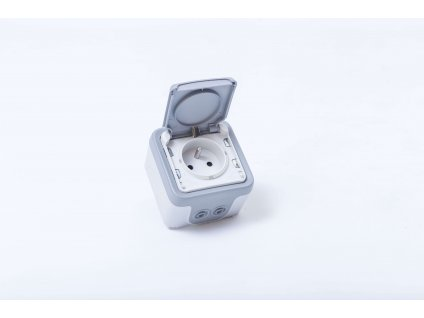 1-zásuvka PLEXO na povrch sivá 16A/250V IP55 069731 Legrand