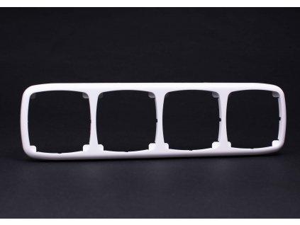 4-rámček Modul vodorovný biely 4FA12737.901 Tesla