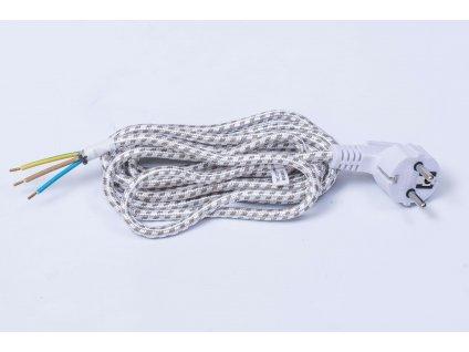 Flexo šnúra opradená na spotrebiče 3x0,75 3m PF41