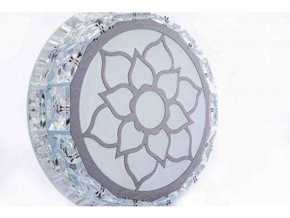 Sklenené svietidlo trojpolohové 10W FLOWER štvorcové AN67