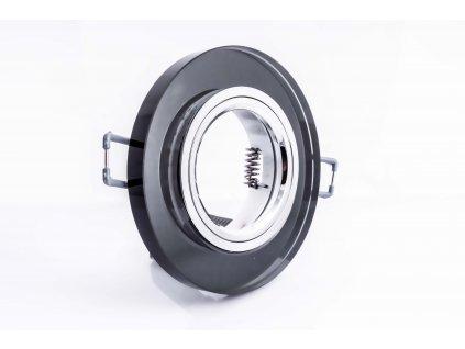 Bodové svietidlo okrúhle pevné čierna perla GXPO010