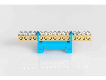 """1-pólový rozbočovací mostík nulák """"N15"""" modrý"""