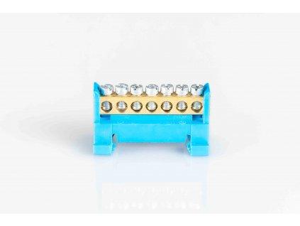 "1-pólový rozbočovací mostík nulák ""NE7"" modrý"