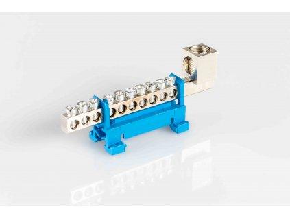1-pólový rozbočovací mostík nulák N10/1x50 modrý