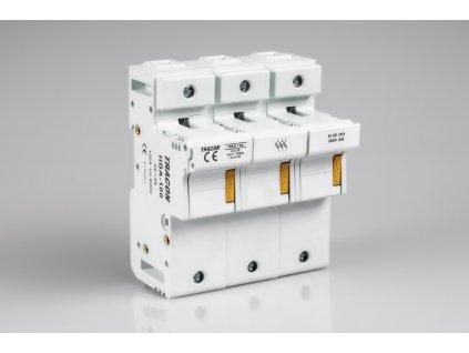 Poistkový odpínač 100A/3P na valcové poistky 22x58 HBA-3P-100