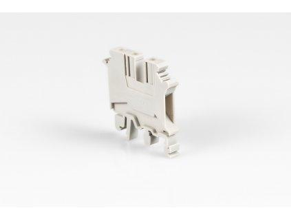 Radová svorka 4mm sivá TSKA4