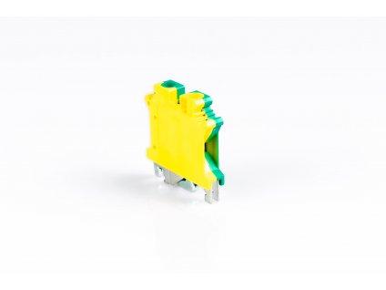 Radová svorka 4mm žltozelená TSKA4JD