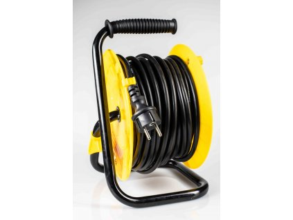 Predlžovací kábel 25m na bubne H05RR-F3G 1,5mm2 IP44 4 zásuvky
