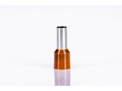 Hnedá izolovaná lisovacia dutinka L=35mm 1x25mm E129