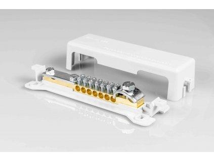 Ekvipotenciálna svorkovnica PAS 01 7x2,5-25 ku bleskozvodovej pásovine FeZn