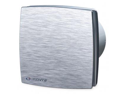 Ventilátor bytový 167m3/h VENTS 125LDATL hliníkový kryt časový spínač guličkové ložisko
