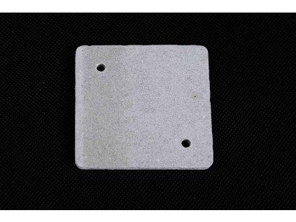 Sivá nehorľavá podložka 80x80x5mm pod zasuvky a vypinace PI 80R Cemvin