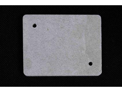 Sivá nehorľavá podložka 80x80x5mm pod zasuvky a vypínače PI 80 2ZK Cemvin