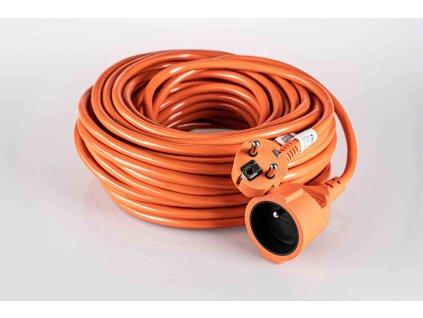 Predlžovací kábel spojka 20m H05VV-F3G 1mm2 oranžový PVC