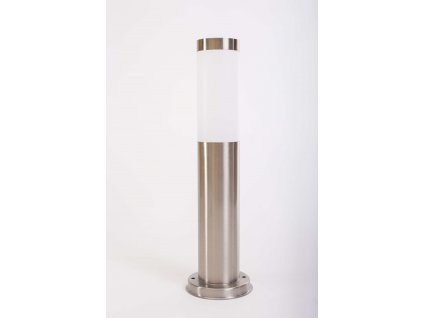 Záhradná lampa 65cm okrúhla strieborná na žiarovku 1xE27 1369