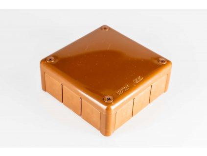 Inštalačná krabica 5P ACEDUR 110x110x45 hnedá IP55
