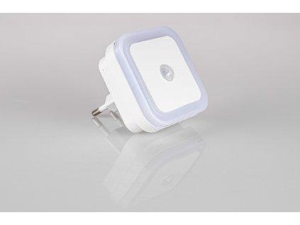 Orientačné LED svietidlo do zásuvky so senzorom 0,5W