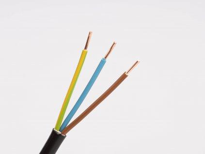 Kábel N2xH-J 3x1,5 nehorľavý