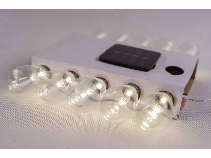 Solárna dekoratívna girlanda biely záves 10ks LED TR608