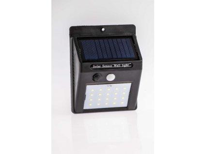Solárne svietidlo 3W IP65 so senzorom čierne PL0593