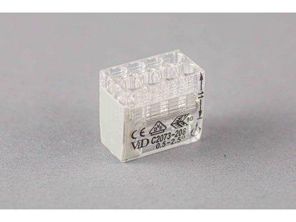Sivá wago krabicová svorka na káble jednorázová 8x