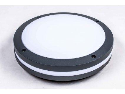 Stropné okrúhle svietidlo PAULA 2xE27 IP44 s čiernym rámom PL3269
