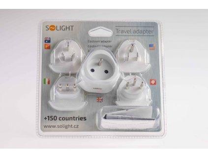Cestovné adaptéry sada 5 kusov USA GB SWI CN NZ ITA PA20