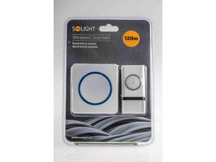 Bezdrôtový zvonček modrý dosah 120m 1L45