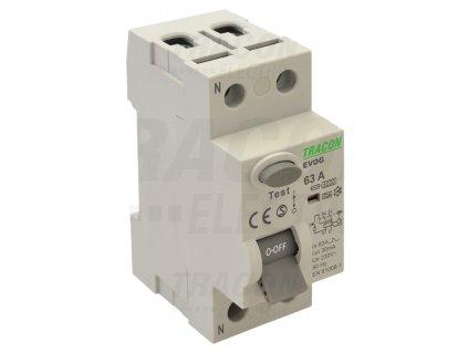 Prúdový chránič 2P 25A 30mA 6kA A/AC EVOG2P2503