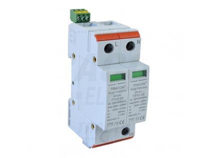 Zvodič prepätia typ 2 AC 230/400V 10/20kA 2P