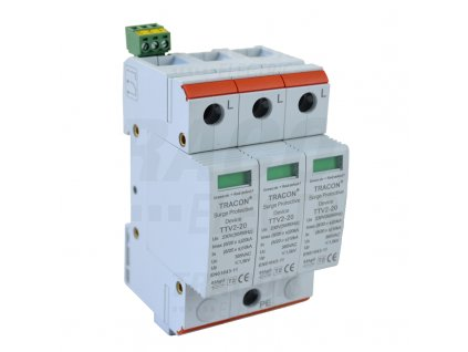 Zvodič prepätia typ 2 AC 230/400V 10/20kA 3P