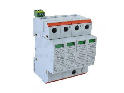Zvodič prepätia typ 2 AC 230/400V 10/20kA 4P