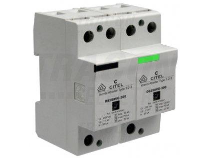 Zvodič prepätia typ 1+2+3 25 kA 1P+N/PE Citel