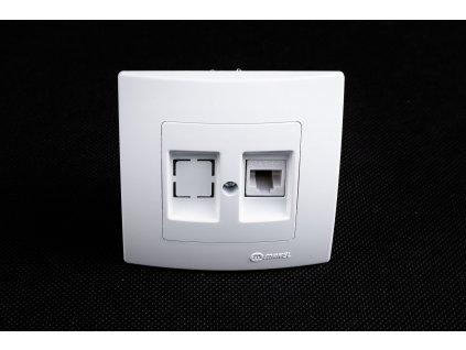 Dátová 1-zásuvka Lilium 1xRJ45 Cat.5e biela 32001035