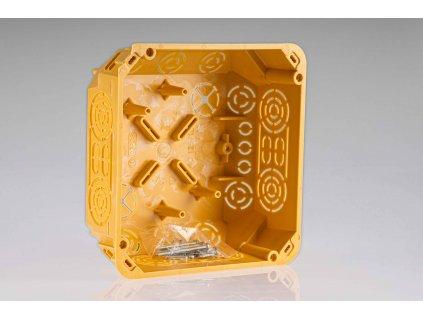 Inštalačná krabica s vekom KO125/1L NA 152x152x64mm do dutej steny okrová KOPOS