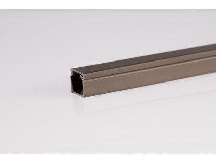 Tmavo hnedá lišta 25x15mm 2m