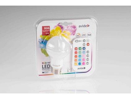 LED žiarovka RGB+W na diaľkové ovládanie 9W E27 2700K
