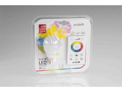 LED žiarovka RGB+W na diaľkové ovládanie 5,5W E14 2700K