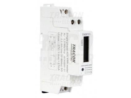 1-fázový digitálny elektromer 40A TVOF11