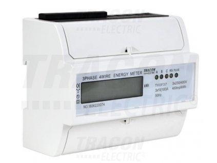 3-fázový digitálny elektromer 100A TVOF37