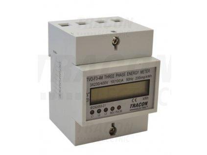 3-fázový digitálny elektromer 100A TVO-F3-4M