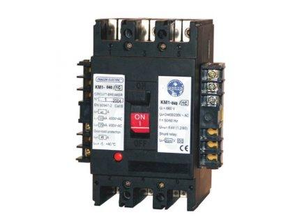 Kompaktný istič deón s podpäťovou spúšťou 3P 230V AC 100A 50kA 1xCO KM2-100/2