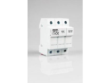 Poistkový odpínač 20A/3P na valcové poistky 8x32 HBA-3P-20