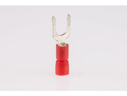 Káblová vidlička medená 1,5mm2 lisovacia izolovaná M4 PV4